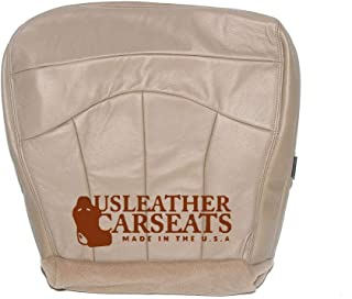 1999 00 01 02 03 Ford F150 Lariat Super Cab Driver Bottom Leather Seat Cover Tan