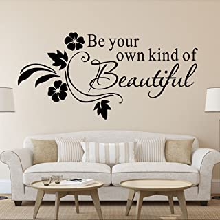 Wall Sticker Quotes Be Your Own Kind of Beautiful Vinyl Wall Sticker Quotes Lettering Words for Kids Girls Bedroom Bathroom Home Decor Decal