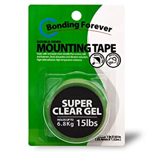 Bonding Forever Super Clear Gel Double Sided Tape | Foam Tape | Double Sided Adhesive Tape | Mounting Tape | 0.045