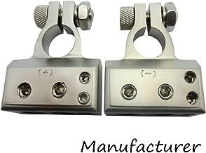 2pcs Battery Terminal 2x4ga+2x8ga Positive Negative Auto Car Audio Modification