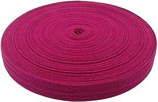 BornFeel Baumwoll Schrägband 25mm 50m Einfassband Baumwolle Nahtband Natur Baumwollschrägband mit Fischgrätenstich für Wimpelkette Schneidern Schürze Craft Nähen