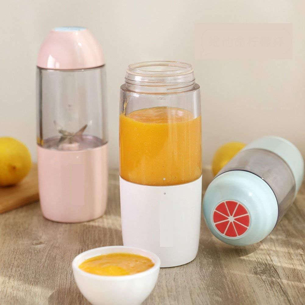 YXZQ Mini Tasse de Presse-Agrumes Portable Rechargeable, Petits Fruits et légumes domestiques sans Presse-Agrumes Automatique-Bleu White