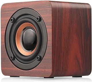 $63 » AERJMA Retro Bluetooth Speaker, Portable Wood Home Audio Super Bass Stereo with Woofers, Support TF Mini Wireless Bluetoot...