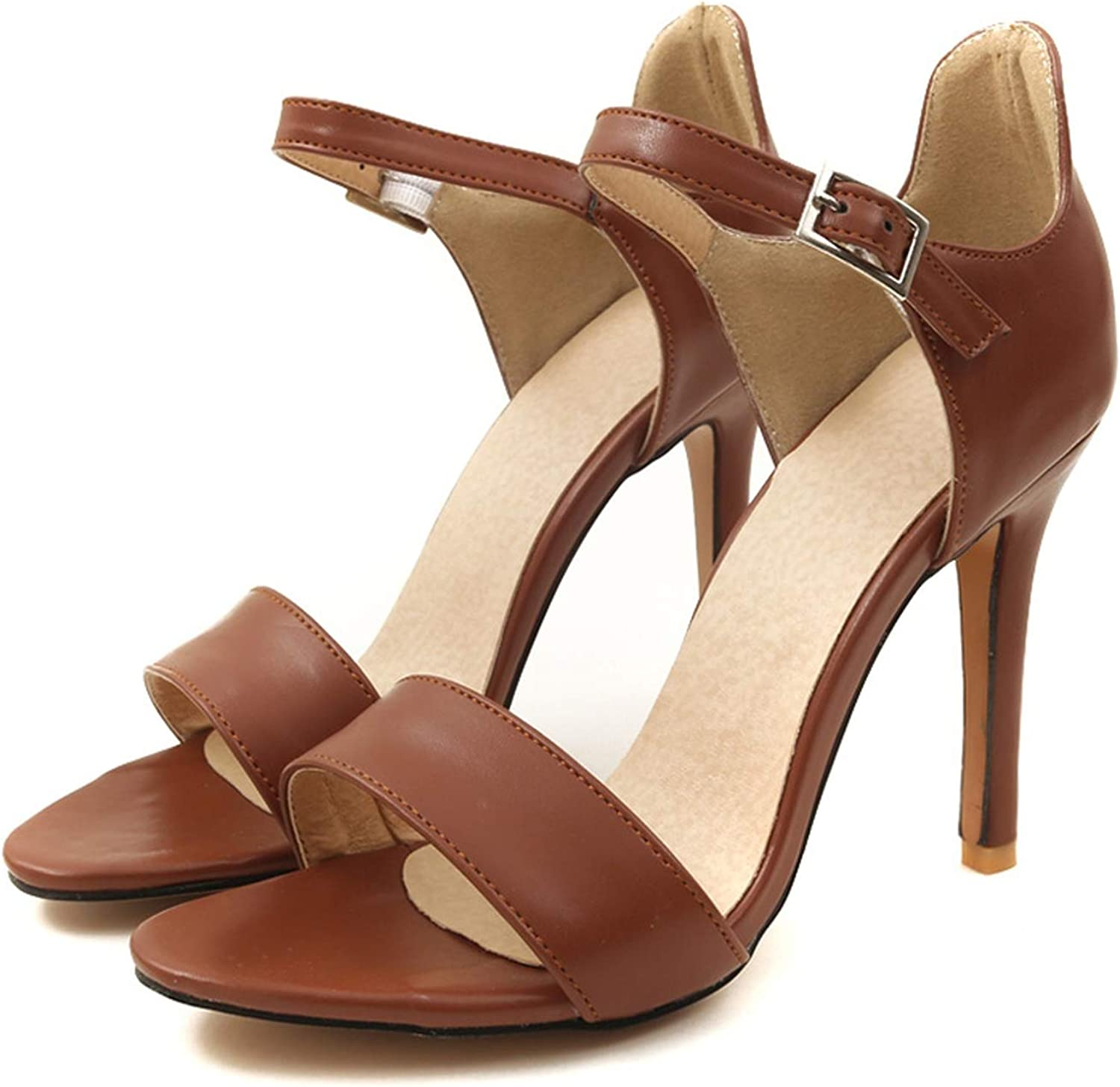 Merry-Heart Womens Sexy Thin High Heels Sandals Buckle Strap Summer shoes Ladies,