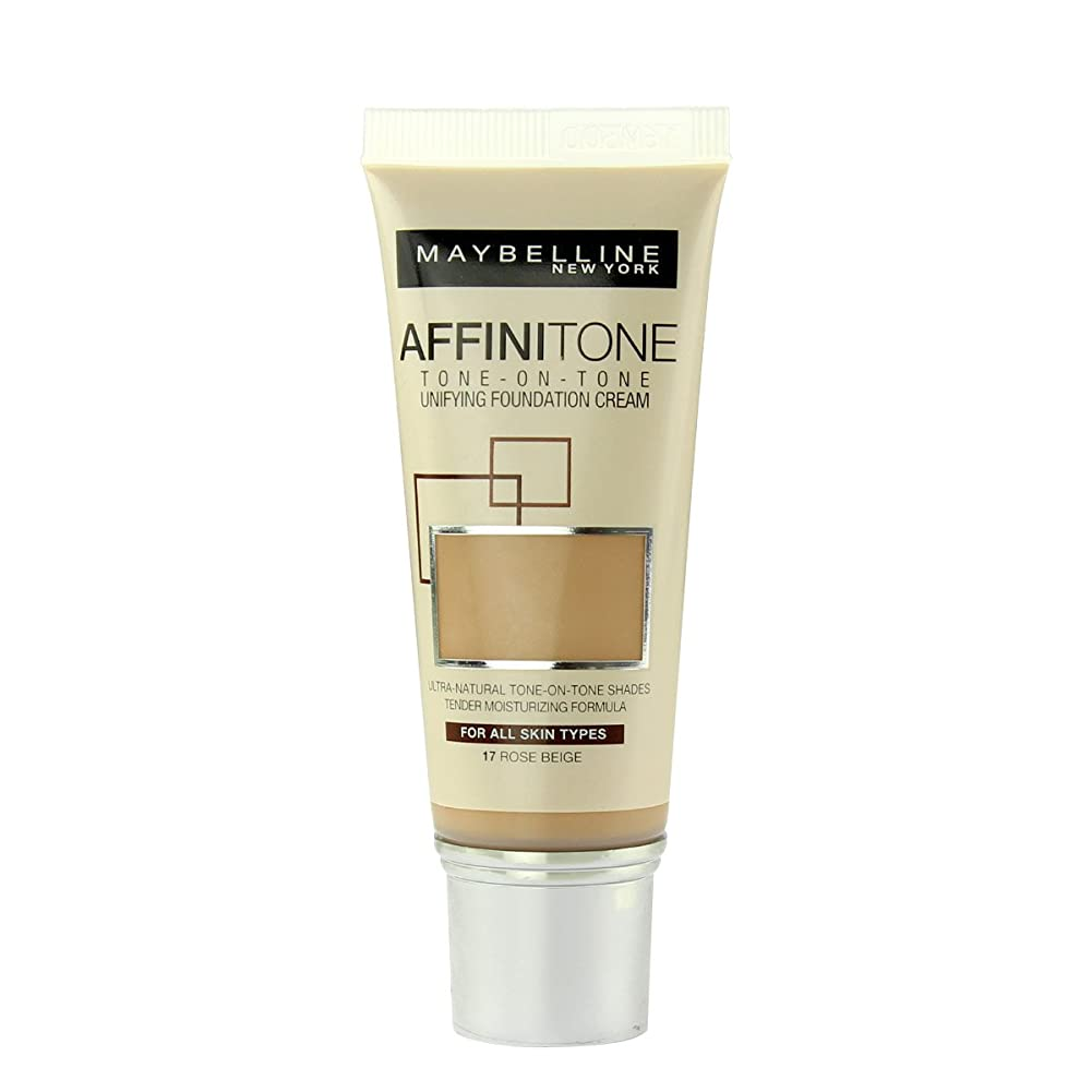 期待するコンテンポラリー肯定的(17 ROSE BEIGE) - Maybelline Affinitone Perfecting And Protecting Foundation 30ml-17 Rose Beige