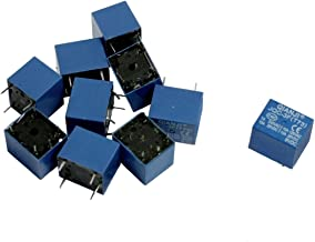 uxcell 10 Pcs DC 9V Coil 10A SPST 5 Pin Electromagnetic Relays PCB Type JQC-3F