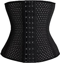 Generic Women's 3x13 Hooks Hollow Out Steel Boned Waist Cincher, Small (Black)