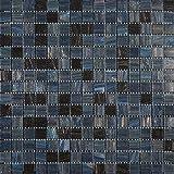 Decostyle DEC-74291AXS499 - Mosaico de Vidrio en Malla, Gris, 4 mm, 32.7 x 32.7 cm, Set de 10 Piezas