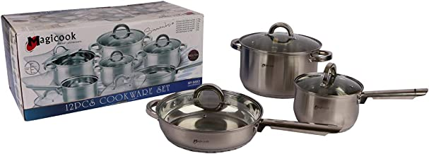 Set Of Stainless Steel Pot, Magicook 12 Pieces