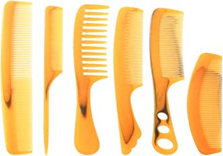 6 Packs Hair Comb,XINSANRUI Wide and Fine Tooth Comb Set Variety Pack Great for All Hair Types and Styles ,CB2002