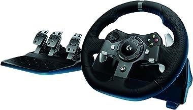 عجلة قيادة درايفينج فورس مع دواسات تتوافق من جهاز اكس بوكس ون والكمبيوتر من لوجيتيك، G920
