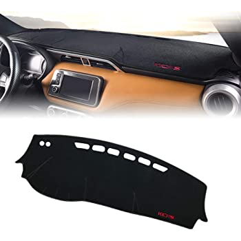 Car Dashboard Cover Mats Leather Anti-Slip Dash Board Cover Auto Accessories,Black black line,LHD GPPSUN Compatible with MINI Cooper Countryman 2015 2016-2020