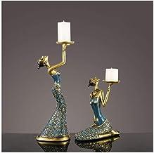 Candle Holder Candle Holder, Vintage Lady Candlestick Resin Statue Candelabra for Wedding, Party, Christmas Restaurant Hom...