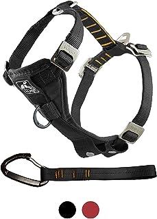 Kurgo Harnais de voiture pour chien, système d'attache sur ceinture de sécurité universel avec mousqueton, anneau anti-tra...