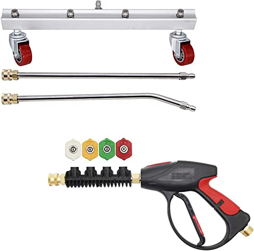 wholesale Twinkle Star Pressure Undercarriage online sale Cleaner with 2 Wands | Pressure Washer Gun outlet online sale with 4-Color Nozzles outlet online sale