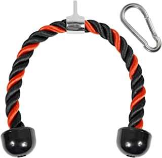 Yes4All Deluxe Tricep Rope Pull Down – 27 and 36-inch Rope Length, Easy to Grip..