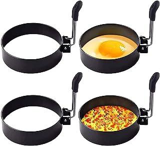 Egg King, KASTWAVE Round Breakfast Household Mold Tool, Round Stainless Steel Cooking Eggs Omelette Maker Rings for Frying...