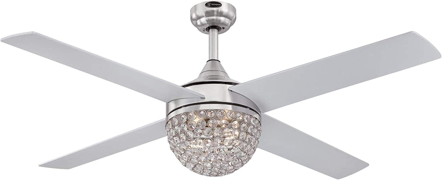 Westinghouse Lighting 7220600 Kelcie discount Indo Brushed Nickel 52-Inch Recommended