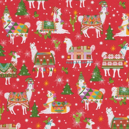 Wrapping Paper 8 Foot Roll Christmas Gift Wrap Ideas Hello Dolli Red, 1 Roll