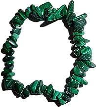 Sublime Gifts Malachite Premium Crystal Healing Chip Gemstone 7 Inch Stretch Bracelet