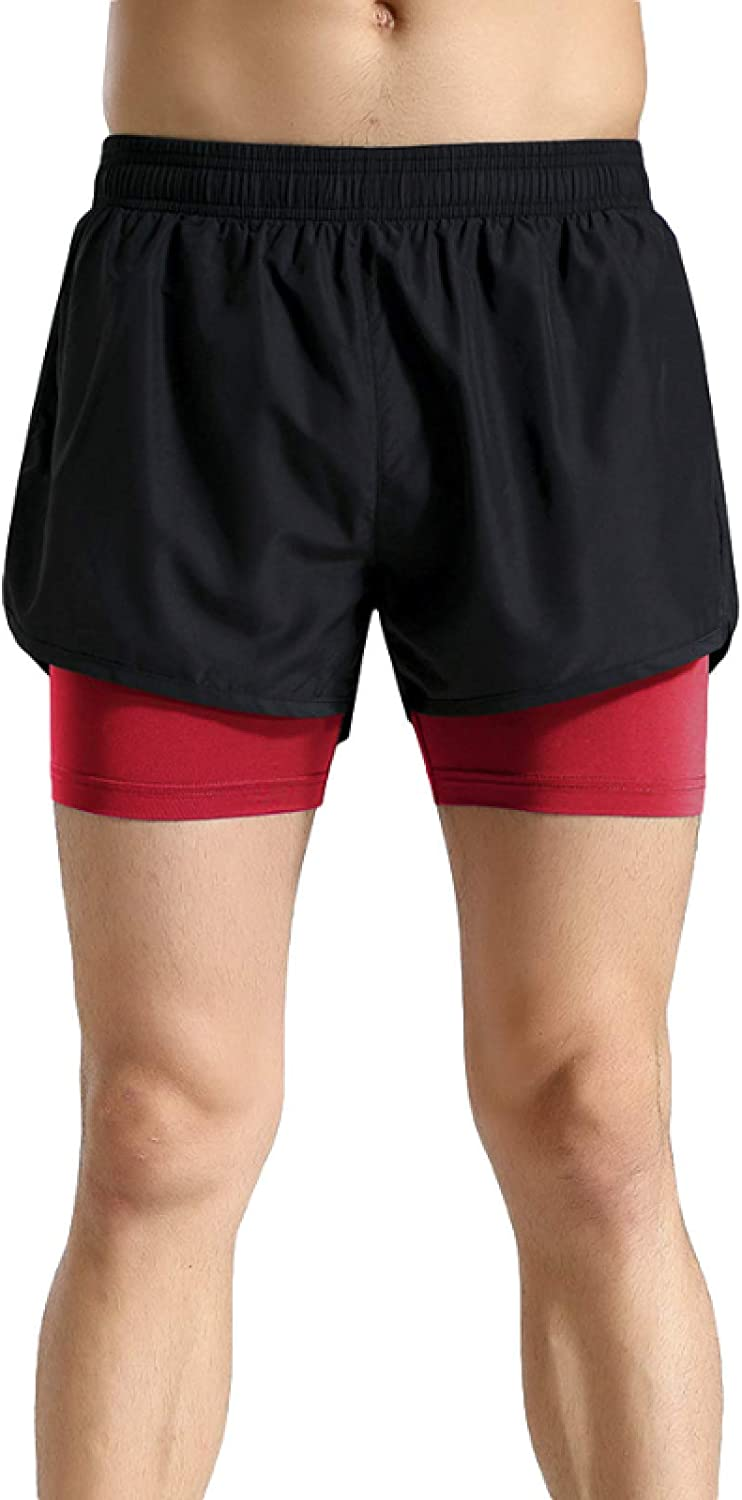 Jubaton Super special price European and American Manufacturer OFFicial shop Double-Layer Sports Shorts T Men's