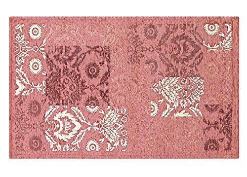 CapitanCasa Velour-Teppich mit rutschfester Rückseite, Modell Ghibli 120_x_170_cm Rosa