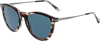 Tom Ford Men's Kellan FT0626 50W Round Sunglasses, Brown, 53 mm