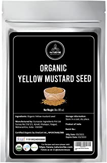 Naturevibe Botanicals Yellow Mustard Seed, 5lbs | Non-GMO and Gluten Free | Used to make Hot Dog | Sandwiches | Strong Spi...