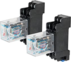 Electrical Buddy DPDT HH52P Coil 8 Pin General Purpose Relay with PYF08A Socket DC 220V 2PCS