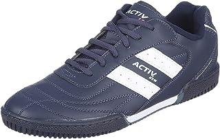 حذاء رياضي اكتيف من الجلد الصناعي بشريط جانبي منخفض برباط للرجال
