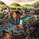 Murosn Puzzle 3D 8 Años Adultos Infantiles Educa Madera Arte Paisajes Placeres Decoracion Regalos Mujer Personalizado Vista Del Paisaje-500 piezas