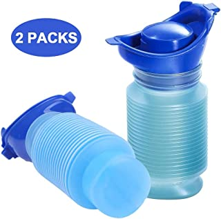DricRoda Emergency Urinal, 2 Packs Portable Reusable Outdoor Shrinkable Urinal, Men Women Outdoor Pee Bottle for Travel, Camping, Hiking, Traffic Jam and Queuing 750cc per