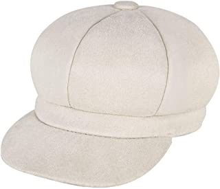 Hat Octangular hat Autumn and Winter New Warmth Savage Beret Cap Circumference (Color : White, Size : M56-58cm)