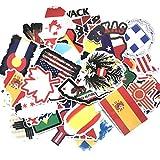 greestick Aufkleber Flaggen Welt Länder Europa 50 Stück Nationalflaggen Sticker Fahnen Urlaub Reise Koffer Souvenir