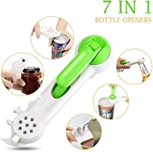 7 in 1 Can Opener, Jar Bottle Can Opener, Pry Bar Beer Opener,Lid Twist Off Gripper, Can and Bottle Opener , Assist to Pry Lids Off, Kitchen Practical Multi Purpose All Size in One Tool ,By Veizn.