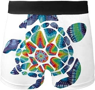 Tie Dye Turtle Fashion Breathable Men's Underwear Boxer Briefs Bikini Swimwear S-XL