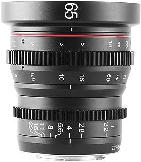 MEIKE Lente de cine de 65 mm T2.2 de enfoque manual de gran angular para cámaras Sony E-Mount APS-C y videocámaras Super 3...