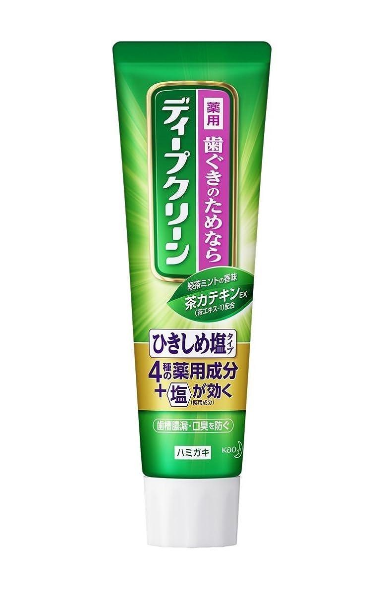 有用公スカート【花王】ディープクリーン 薬用ハミガキ ひきしめ塩 100g ×10個セット