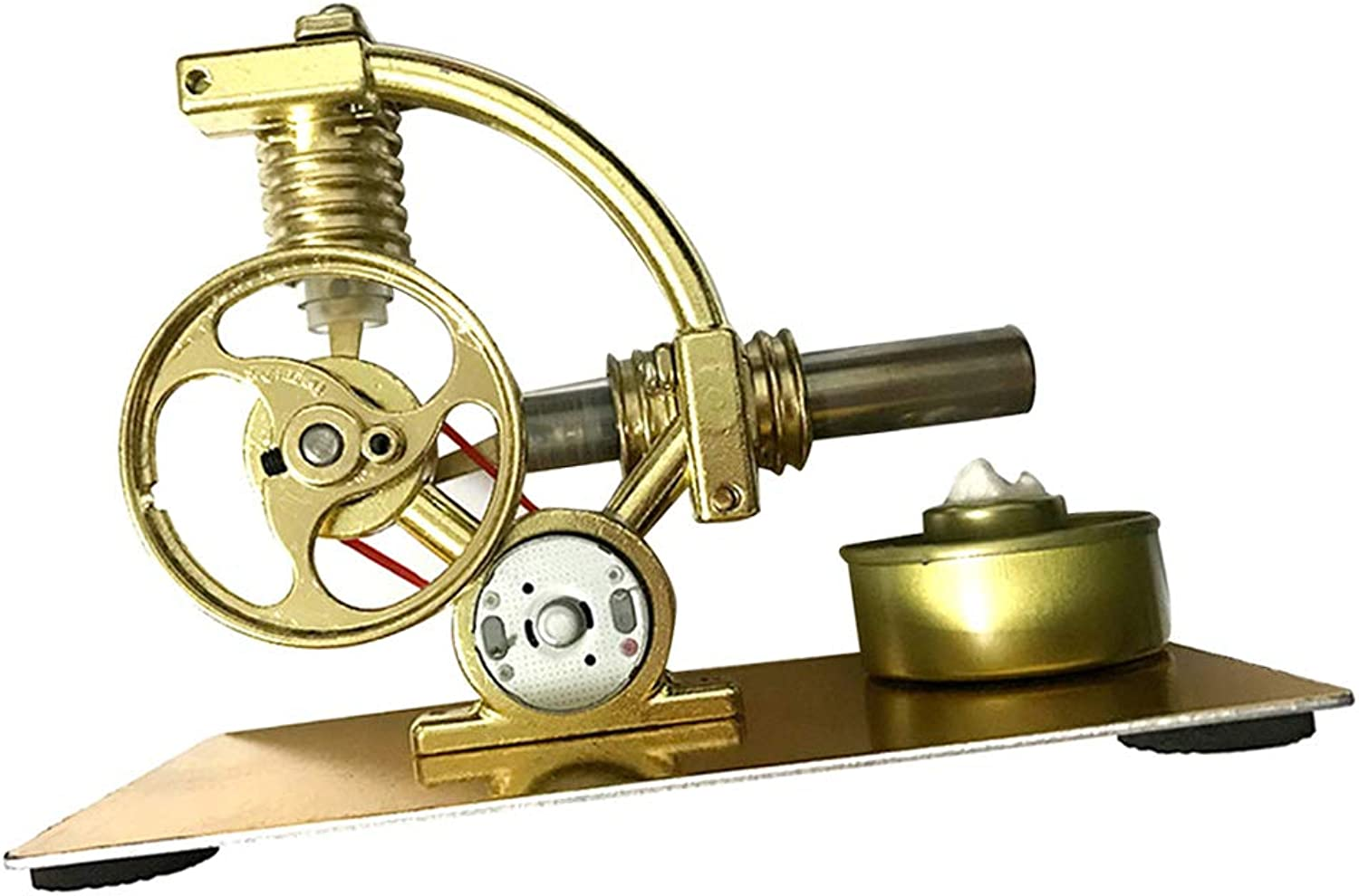 Kesoto Hot Air Stirling Engine Model, Conversion of Heat Energy to Mechanical Work