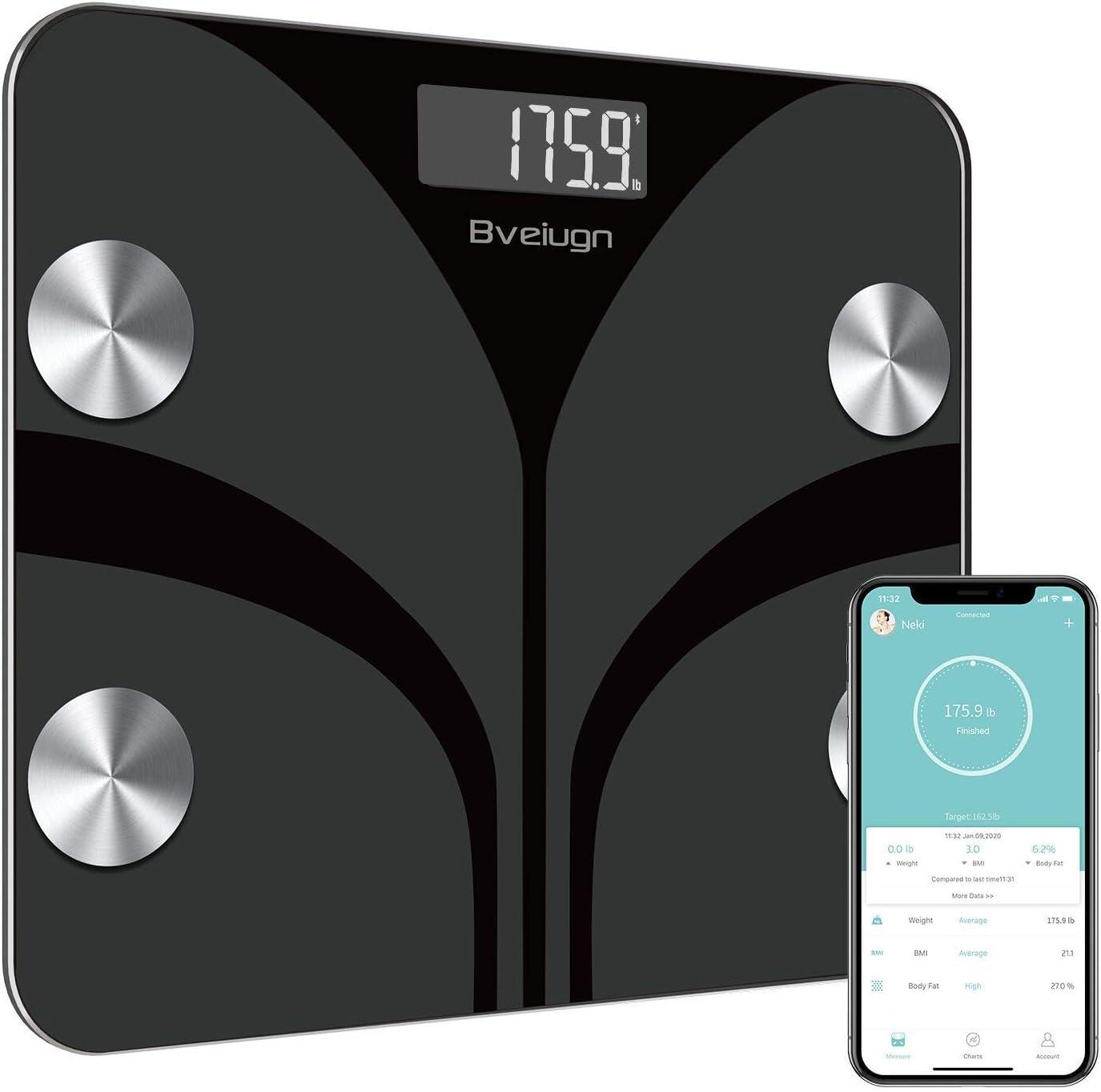 Scale for Body Weight Bveiugn Digital Bathroom Wireless Fat Smart BMI Body Composition Analyzer