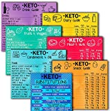 C & S Keto Cheat Sheet Magnets – Set of 7 Ketogenic Diet Fridge Magnets with Fats, Net Carbs, Proteins- Quick Guide Fridge Magnetic Reference Charts for Dairy, Meat, Fruits, Vegetables and More