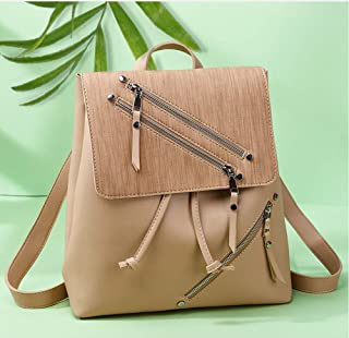GYYlucky Backpack Female Shoulder Fashion Travel Leisure Bag Fashion Trend Japanese Small Bag (Color : Apricot)