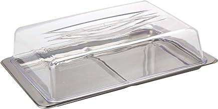 طبق للكيك هارموني من الفولاذ المقاوم للصدأ مع غطاء, شفاف، مواد مختلطة