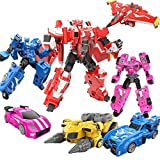 CLNAONG Deformación, Rosa Agente Mecha deformación Juguete Robot Secret Toy S Full Set King & Gang (Color : 4pcs)