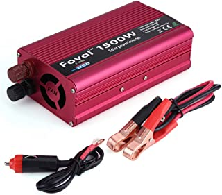 eecoo Power Inverter 1500W, Vehicle Inverter DC 12V a AC 110