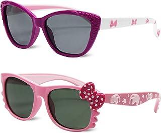 Kids Polarized Cat Eye Aviator Sunglasses for Girls Boys...