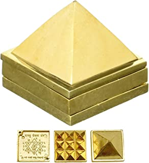 DealFry® Brass Vastu Pyramid That Spreads Positive Vibes, 3 Layer Metal Pyramid for Home & Office Feng Shui Products Nort...