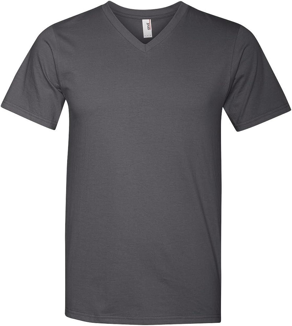 Anvil Adult Fashion Preshrunk Shoulder Taping T-Shirt