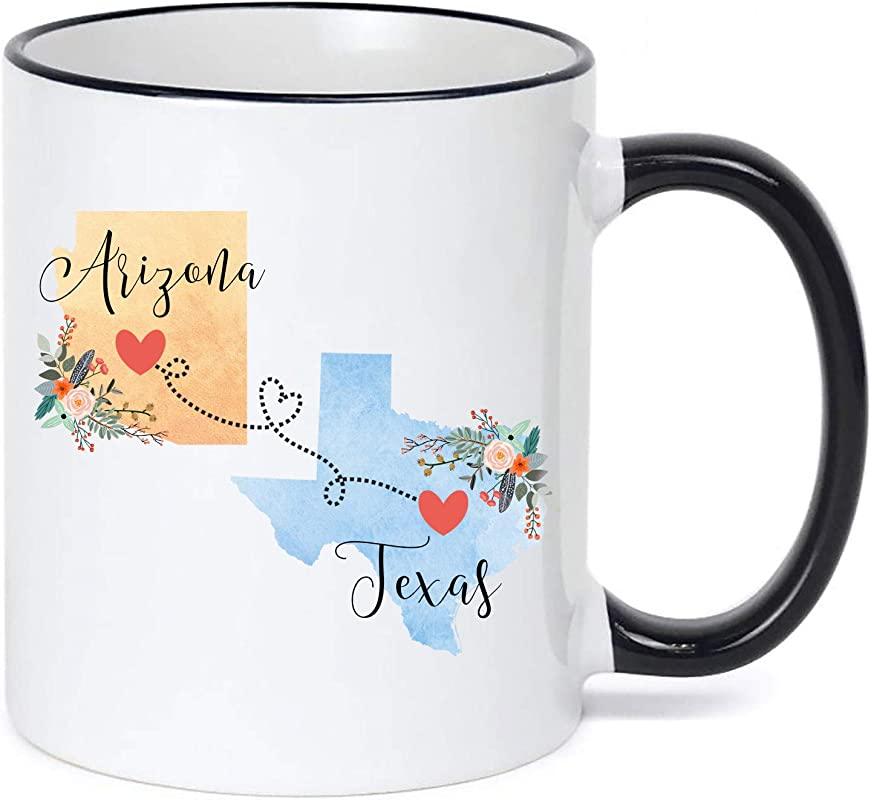 Arizona Texas Mug Coffee Cup Gift Best Friend Mom Girlfriend Aunt Grandma Birthday Mother S Day Going Away Present Moving New Job Gifts