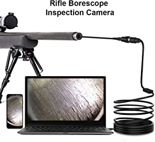 GEECR Rifle Bore Scope, USB Gunsmith Borescope with Side View Mirror, Barrel Endoscope with Short Focus Camera for .223 Caliber and Larger Bore Cleaning Inspections for Android Windows Mac and Linux